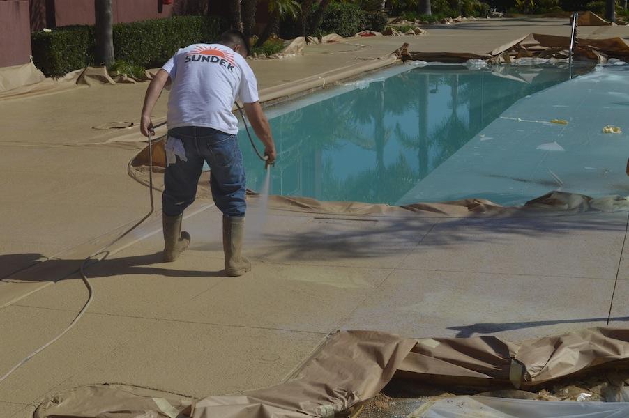 Las Vegas pool deck remodeling